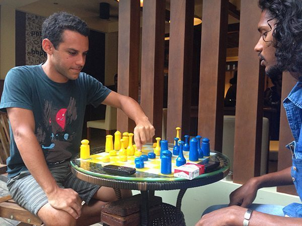 Playing Chess in Maldives