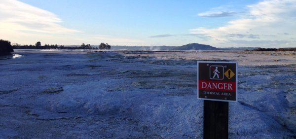 Danger Sign in Rotorua