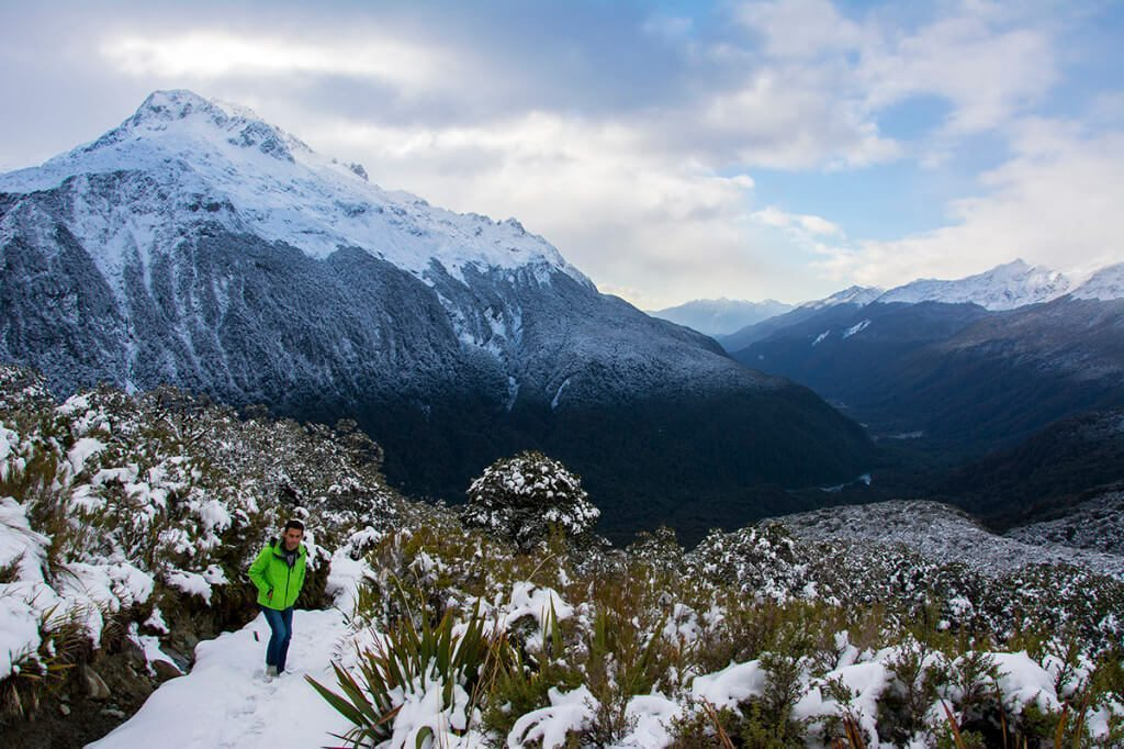 Hiking Routeburn Track in New Zealand