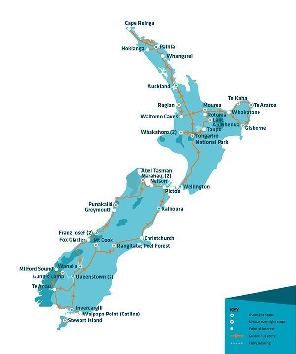Stray Travel Map