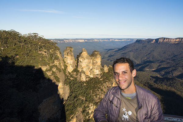 At the Three Sisters in Australia