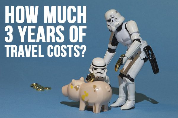 The cost of 3 years of travel