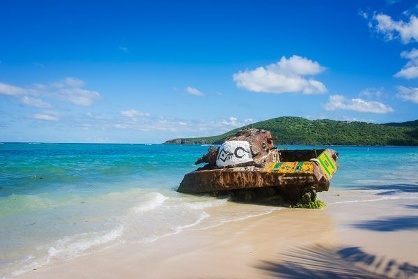 Tank in Culebra, Puerto Rico