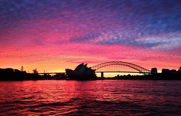 Sunset in Sydney, Australia