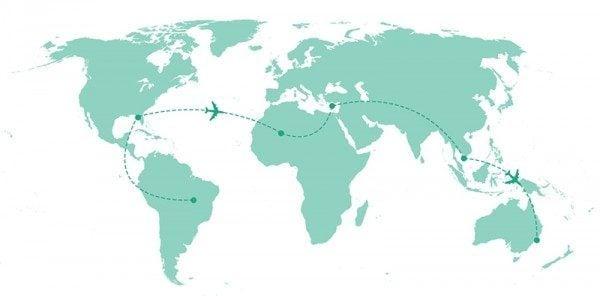 Planning a trip around the world