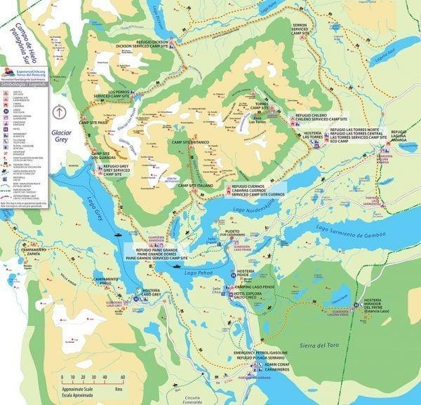 Torres del Paine Map