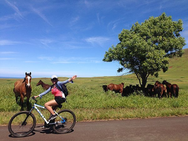 Biking in Easter Island