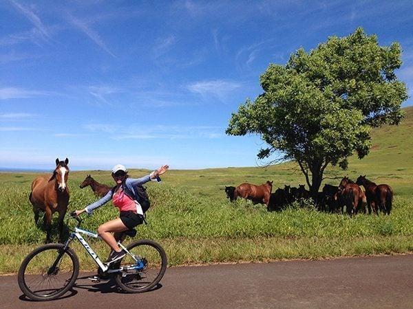 Biking in Easter Island