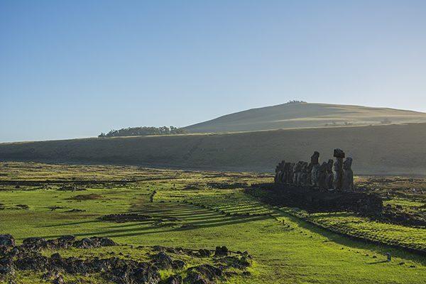 Moai statues of Tongariki, Easter Island