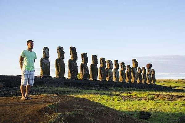 Norbert in Tongariki, Easter Island