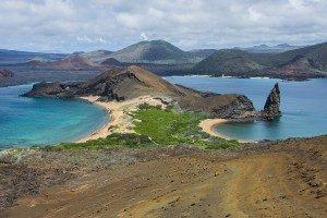 The view from Bartolome Island in Galapagos Islands, Ecuador