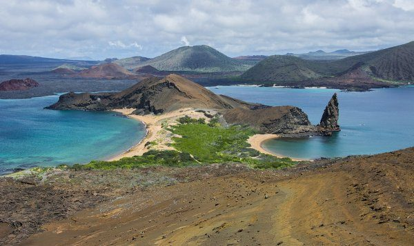 The view from Bartolome Island in Galapagos Islands, Ecuador