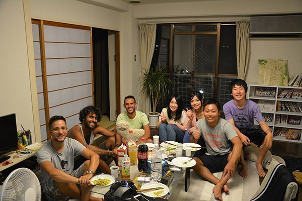 Sharing with hosts in Japan