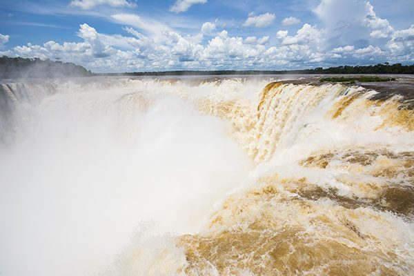 The Devil's Throat at Iguazu Falls in Brazil and Argentina