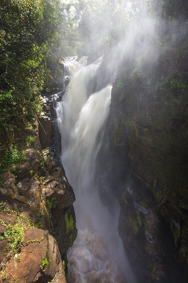 The Devil's Throat at Iguazu Falls in Brazil and Argentina