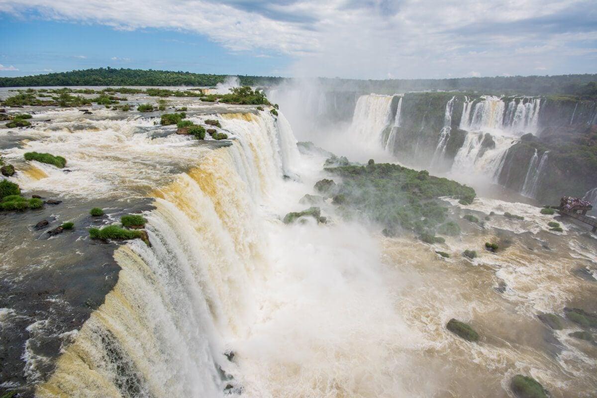 View of Iguazu Falls from Brazil