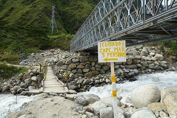 Bridge on the trail to Machu Picchu