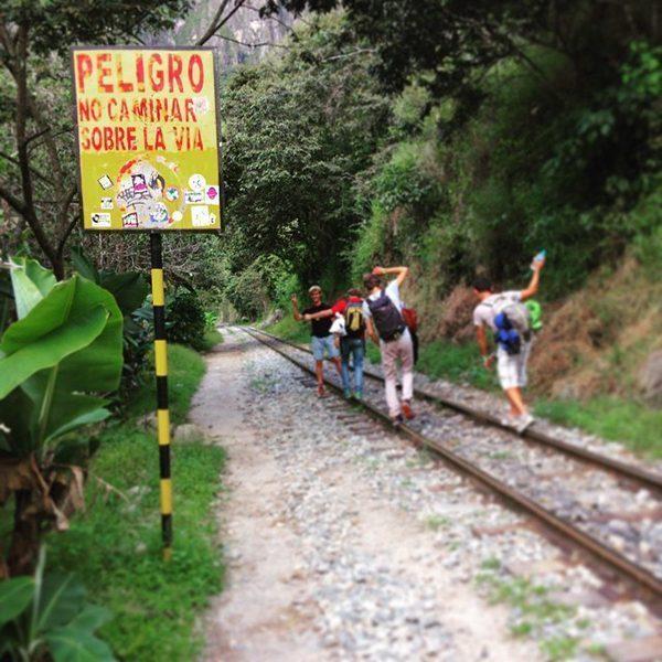 Walking to Machu Picchu