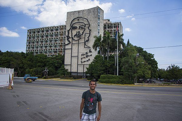 Che Guevara image in Havana, Cuba