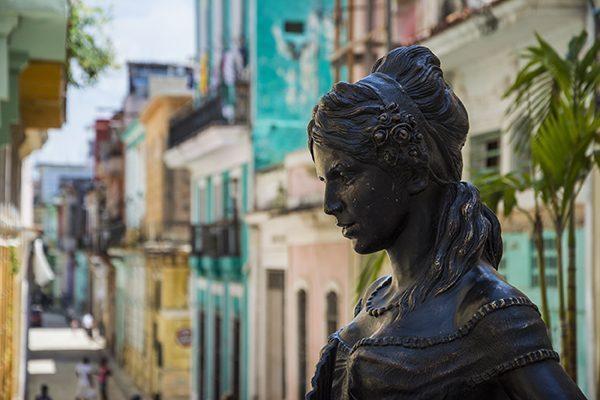 Statue in Old Havana, Cuba