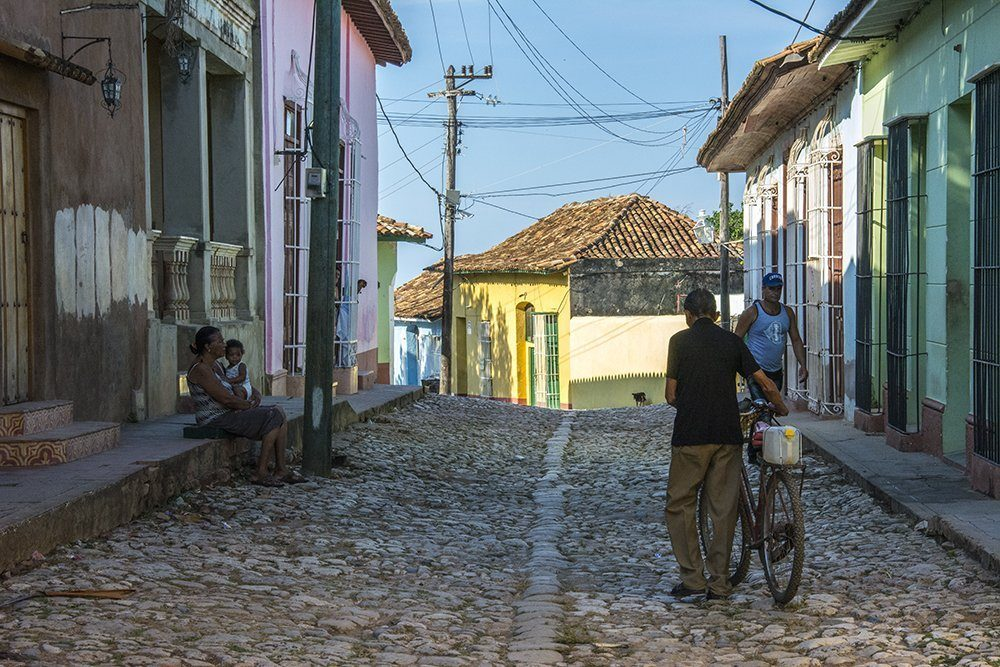 A typical daily scene in Trinidad, Cuba