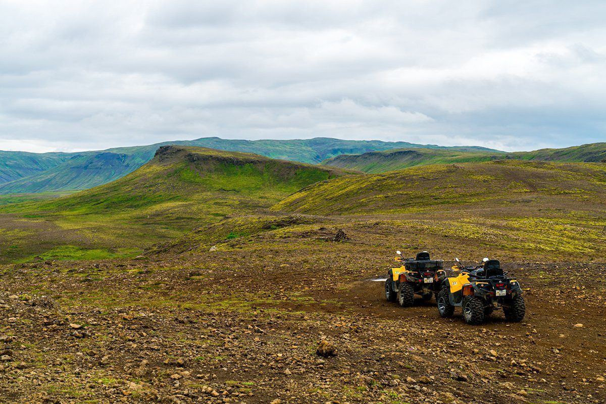 The quads on top of the hill near Reykjavik