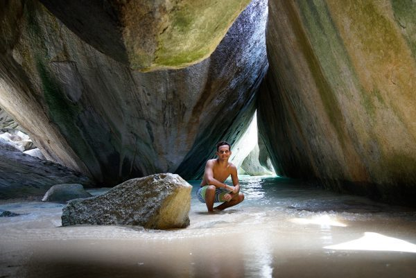 At The Grotto at The Baths, Virgin Gorda