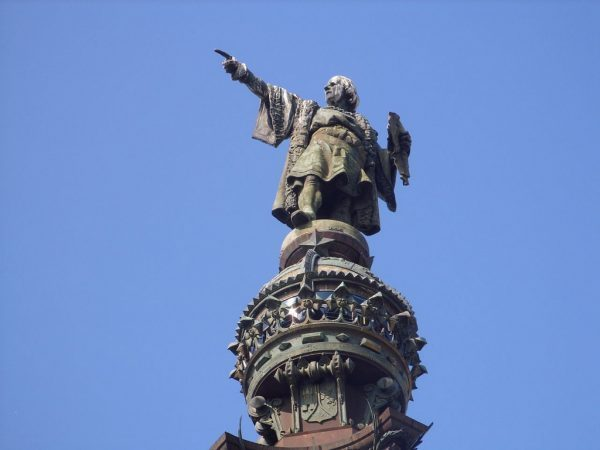 Calombus statue, Barcelona