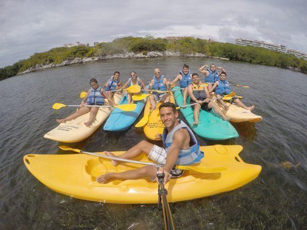 Kayaking in Cancun, Mexico