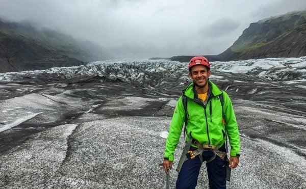 Norbert at Svinafellsjokull Glacier, Iceland