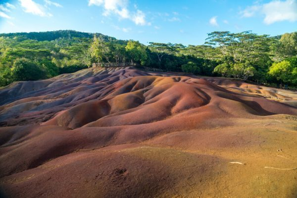 Chamarel Colored Earth in Mauritius