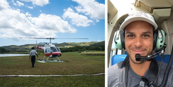 Helicopter Ride in Mauritius