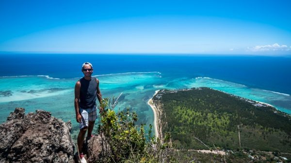 Norbert at the top of Le Morne