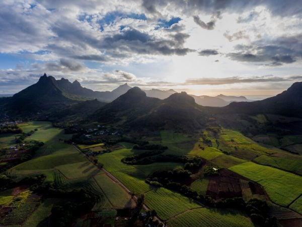 Le Pouce Mountain Range in Mauritius