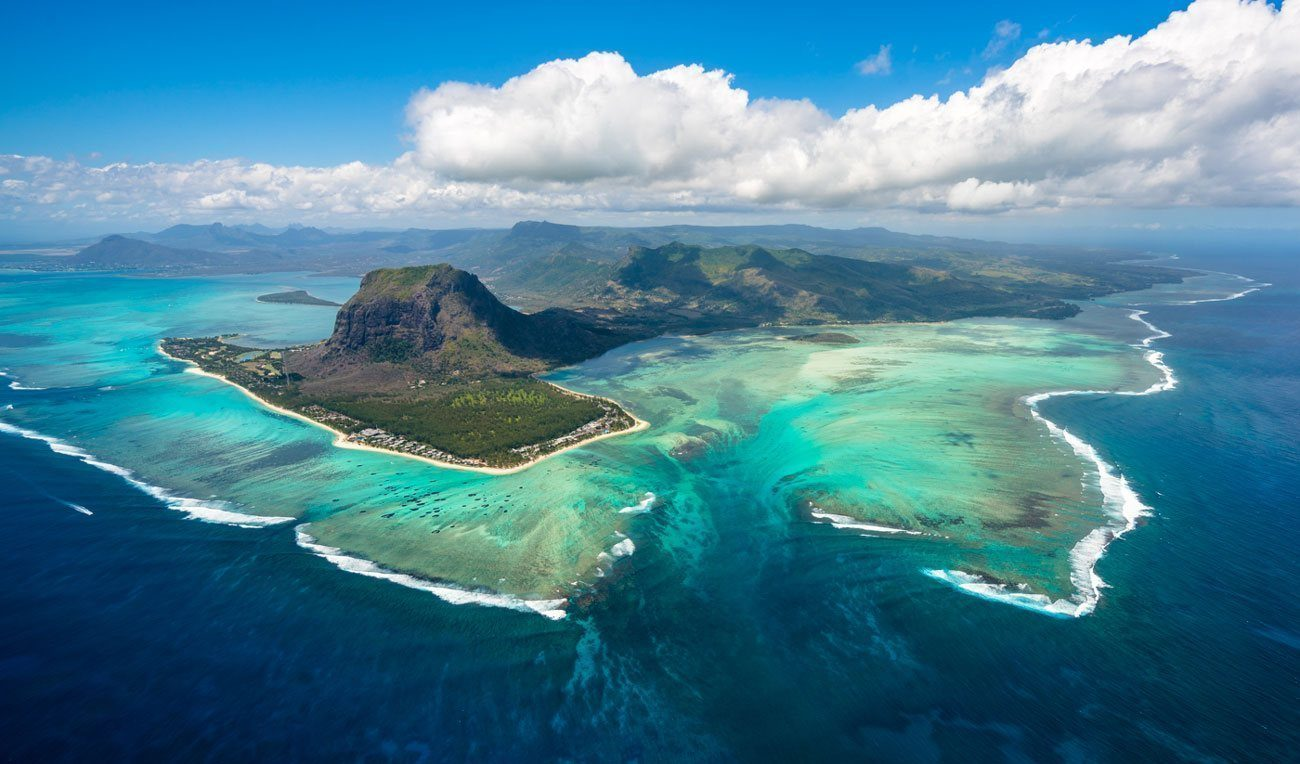 The Underwater Waterfall in Mauritius