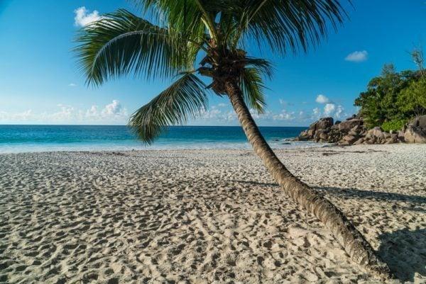 Anse Georgette beach in Praslin, Seychelles
