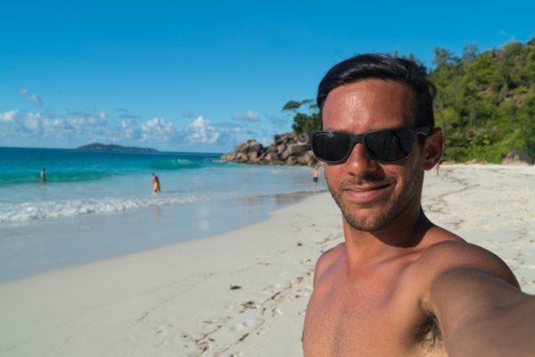 Norbert at Anse Georgette, Praslin, Seychelles
