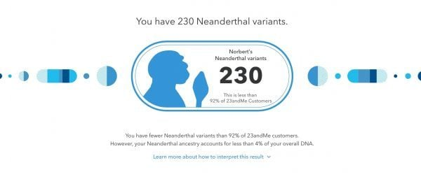 Neandertal Ancestry 23andMe