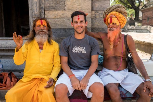 Norbert and Sadhus at Pashupatinath