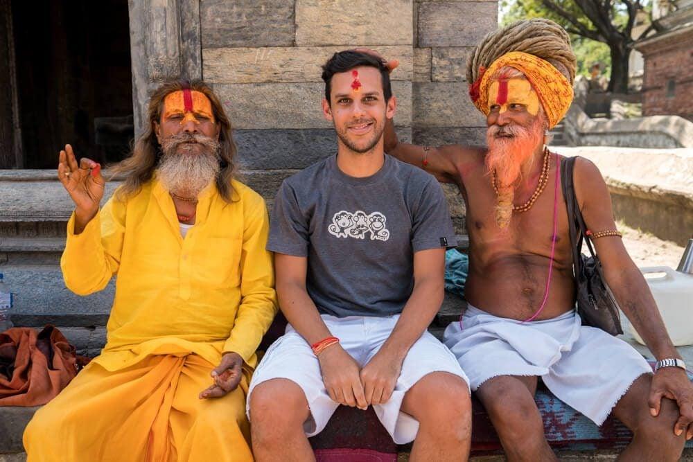 Norbert and Sadhus at Pashupatinath