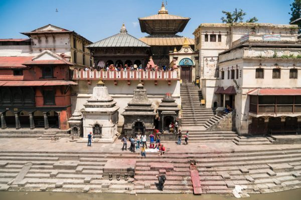 The main temple at Pashupatinath