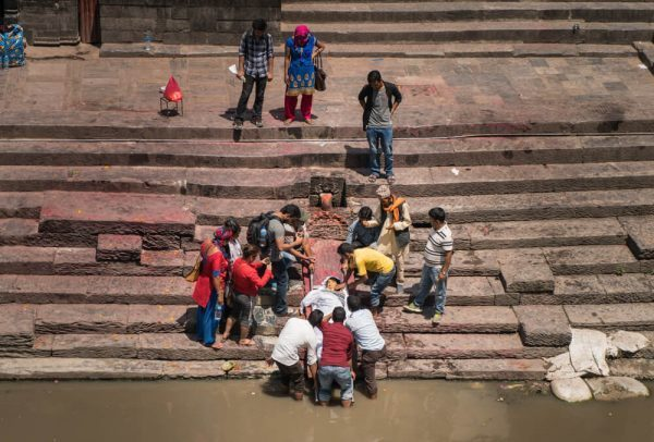the cleansing of a body a Pashupatinath Temple
