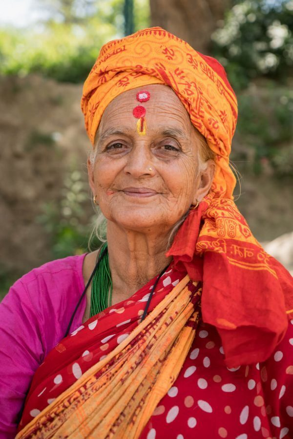 A lady at Pashupatinath Temple