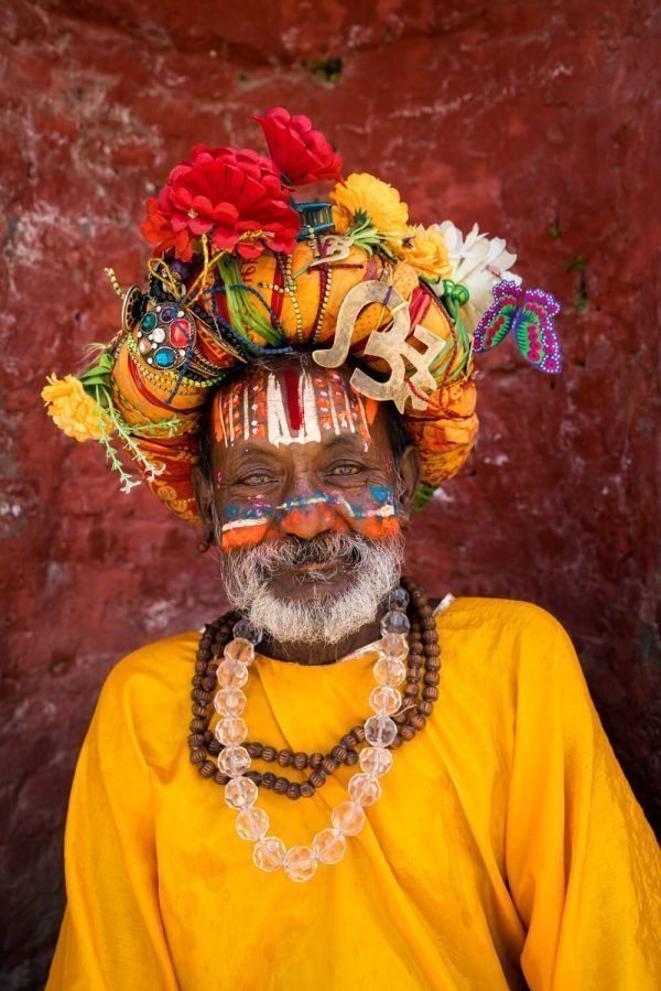 a funky sadhu at Pashupatinath Temple