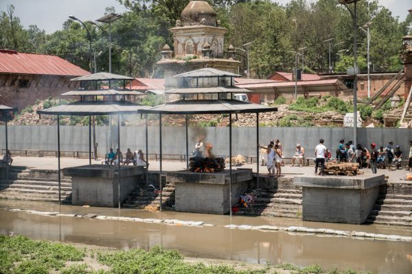 another body burning at Pashupatinath Temple