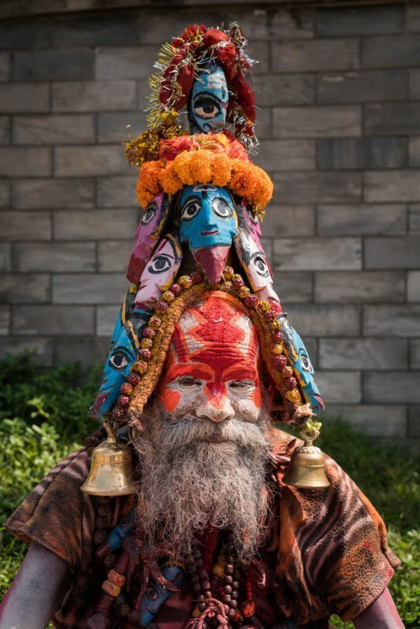 A colorful Sadhu at Pashupatinath