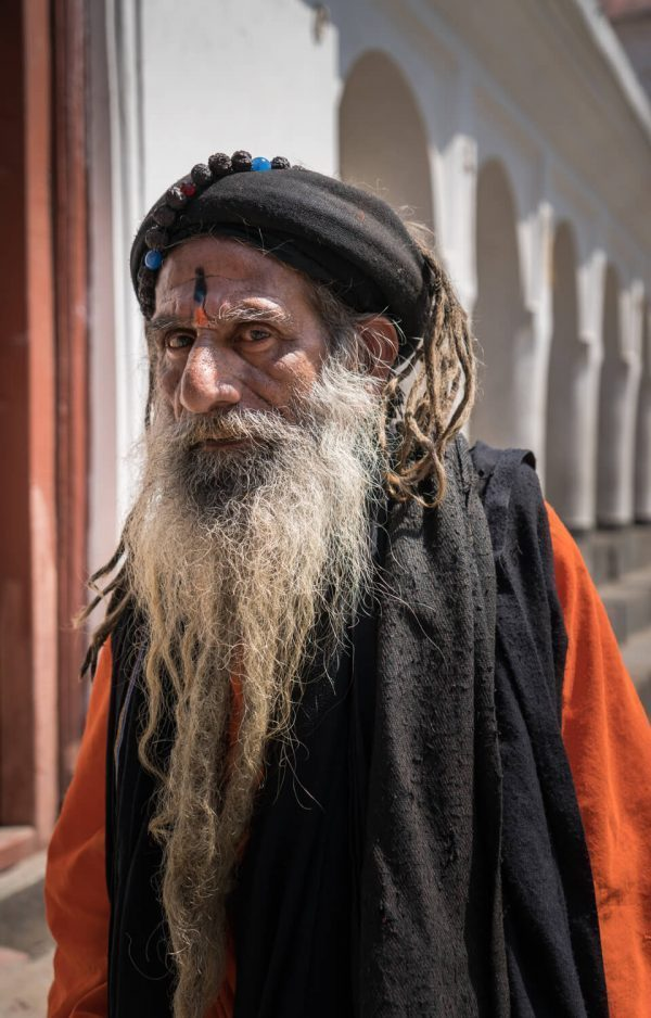 A dreadlocked sadhu at Pashupatinath Temple