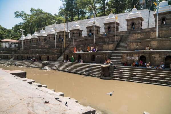 The Brahmins ghats at Pashupatinath