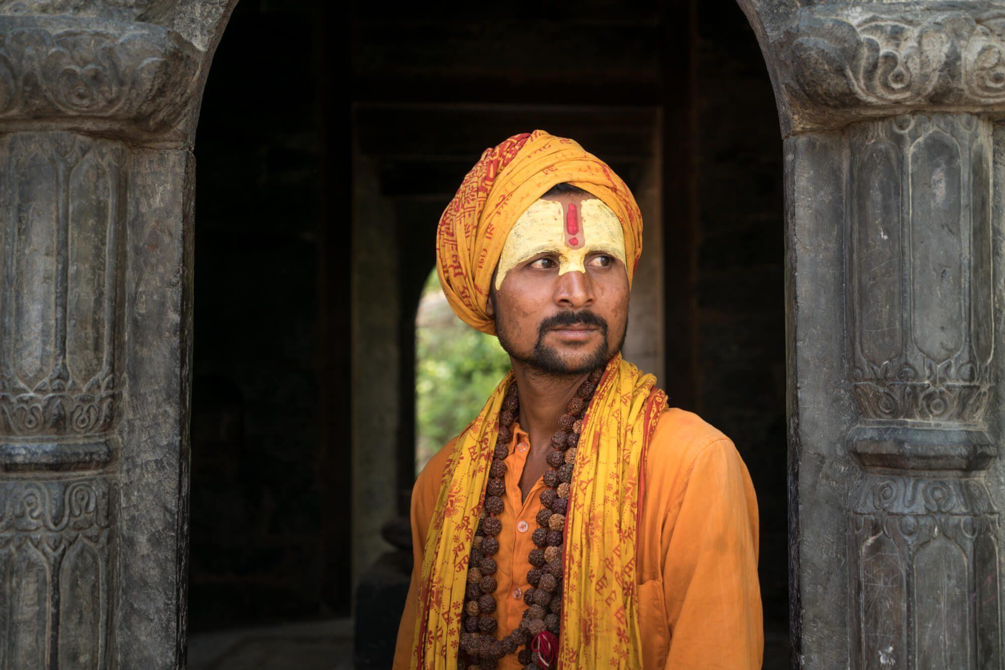 A sadhu at Pashupatinath Temple