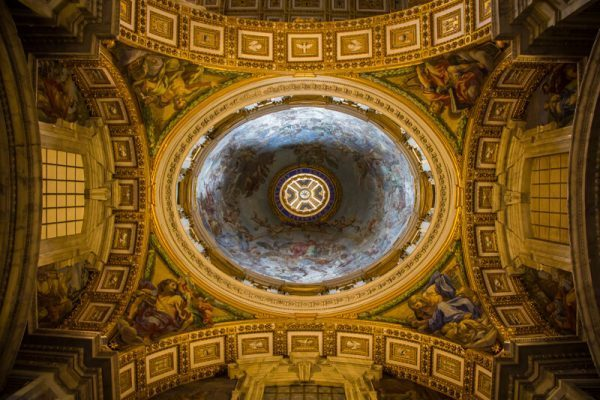 Interior of the Basilica in Vatican City
